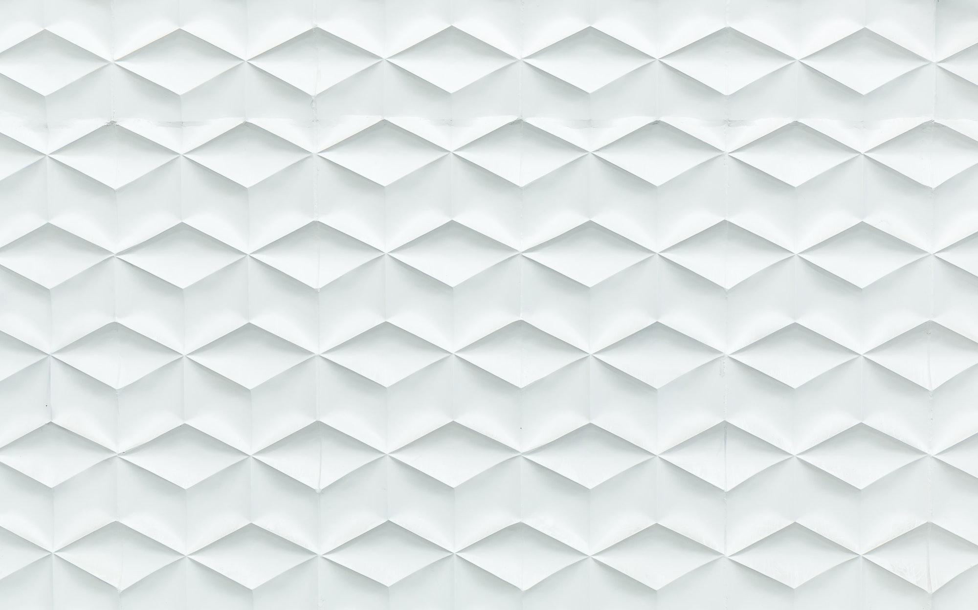 Abstract Cube design white building wall textured.